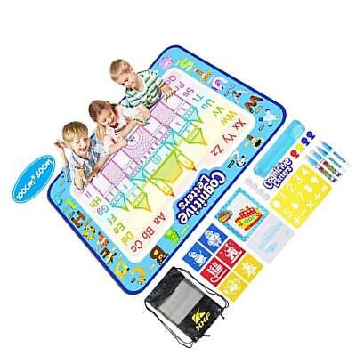 KXF Large Aqua Mat Water Drawing Mat, Water Doodle Mat 100 x 80cm No Mess..