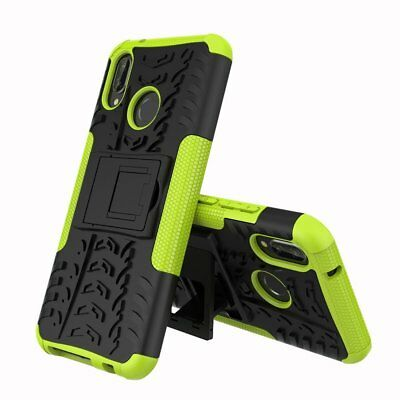 For Huawei P20 / Pro Lite Heavy Duty Armor Tough Kickstand Shockproof Case Cover