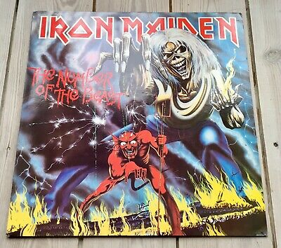 Iron Maiden Number Of The Beast Vinyl LP Company Copy Very 1st Press 1982 A2 B2!