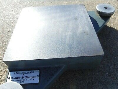 """Brown Sharpe 922  LEVELING Plate TABLE 6"""" X 6"""" Sine Machinist Tool Inspection"""