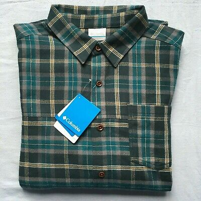 NWT Columbia Flannel Shirt Men's Large Cook Creek New