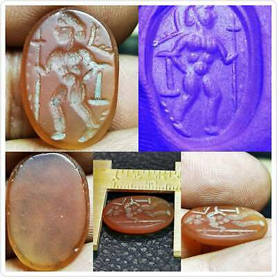 Ancient Agate roman King seal intaglio stone Lovely Cabochon   # 93