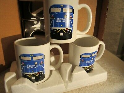 5 Vintage Unused Conrail Coffee Mugs / Cups Made In Usa!