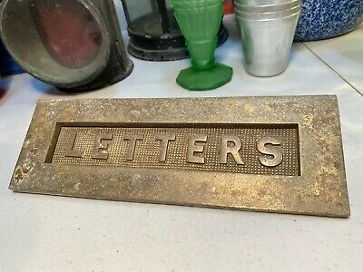 "Antique Vintage Australian Brass ""Letters"" Front Door Letterbox Slot Home Shop"