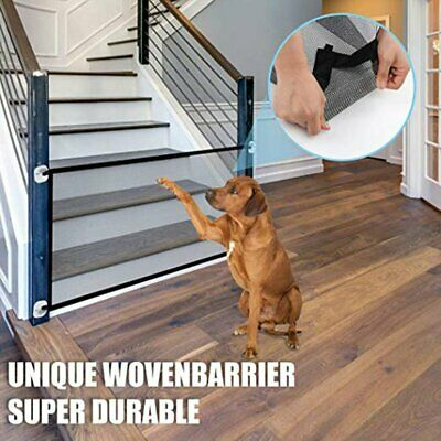 Pet Gate Magic Gate For Dogs Baby Safety Gates Folding Safe Guard R0