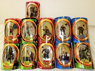 Lord of the Ring LOT of 8 Grima Wormtongue/Aragorn/Eomer/Eowyn/Frodo Toybiz LOTR