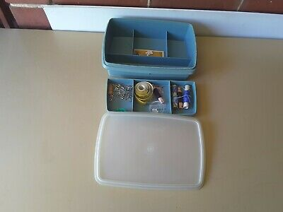 Genuine Tupperware carry craft or sewing box