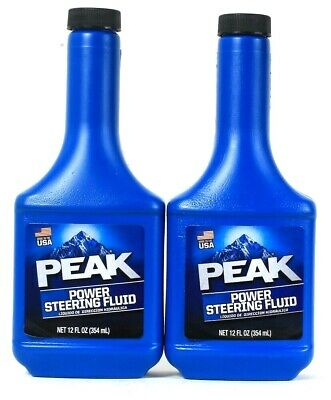 2 Bottles Peak 12 Oz Power Steering Fluid Keeps Systems Clean & Running Smoothly