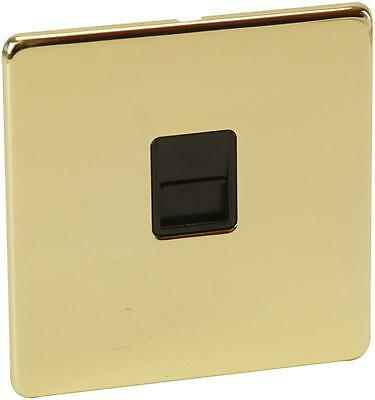 1G BT SLAVE POLISHED BRASS Electrical Switches & Socket Outlets