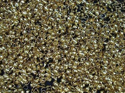 Crimp Covers 100pc Gold Jewellery End Bead Tip DIY Jewelry Necklace FREE POSTAGE