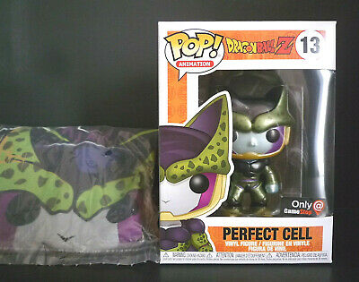 Funko Pop Dragon Ball Z Metallic Perfect Cell + Large T-Shirt GameStop Exclusive