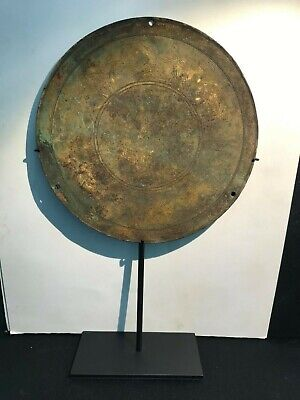 An ancient Roman bronze Plaque probably a written testimonial of a roman rulers