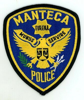 """fire shoulder police patch CA *NEW* Manteca 4/"""" x 4.5/"""" size Ripon S.W.A.T."""