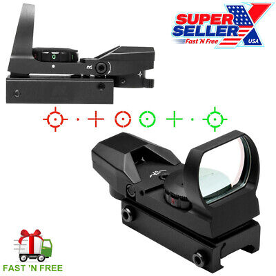 NcStar D4RGT Tactical Red/Green Dot Reflex Optic Sight Four Reticle Scope D4RGB