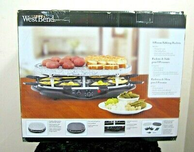 West Bend 6130 Raclette Entertainment Series Party Grill New Box Granite Cooking