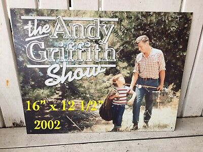 "2002 The Andy Griffith Show Litho 13"" x 16"" Metal Sign"