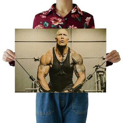 Hot Dwayne Johnson The Rock Muscle Movie Actor New Art Poster 12x18 24x36 T-446