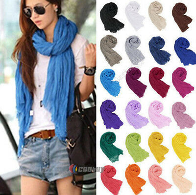 Beautiful Womens Ladies Fashion Voile Scarf Shawl Wrap Headscarf Outdoor Stoles