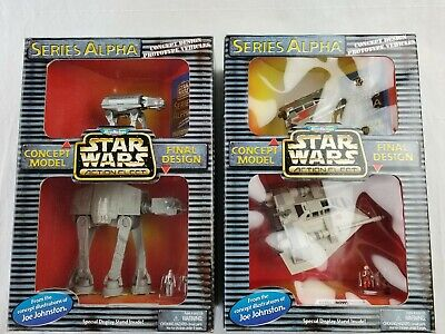 Star Wars Micro Machines Imperial At-AT & rebel snowspeeder concept design LOT