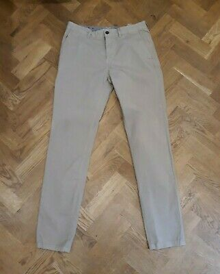 Joules Men's Dark Beige Laundered Chinos Trousers W32 L34
