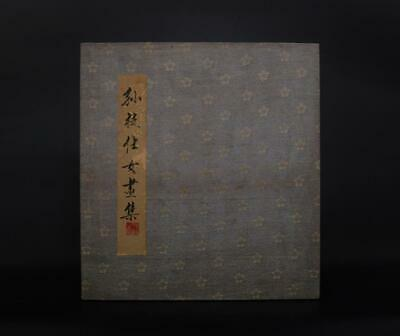 Rare Antique Chinese Hand-painting Scroll Sun Zhi Marked-ladies