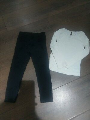 Girls M&co and Gap Leggings and Top Outfit Bundle Age 3 #M
