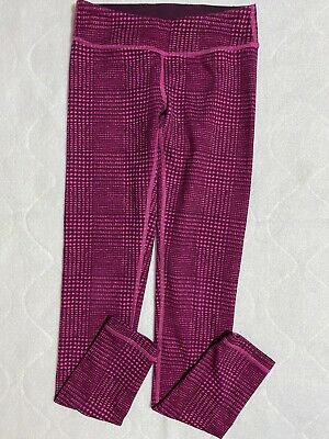 IVIVVA Leggings Pink and Purple Plaid Size 10