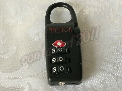 TUMI Alpha TSA Combination Lock in BLACK with Red Lettering BRAND NEW!