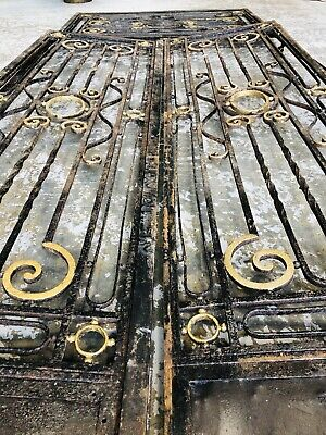 French Architectural antique Wrought Iron Entrance Gates / Doors Circa 1800's