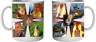 Personalised 10 Picture Memory Collage 11 oz. Mug Cup Big Handle