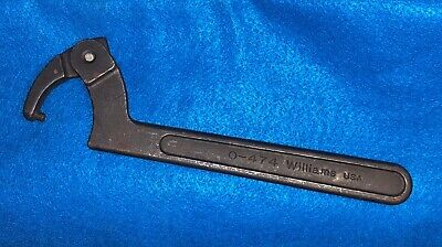 Williams O-474 Adjustable Pin Spanner Wrench USA ~ NEVER USED