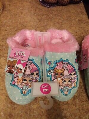Girls LOL Surprise Slippers NWT sz 11-12 and 2-3