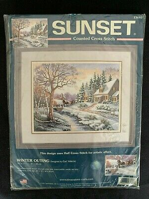 Sunset Counted Cross Stitch Kit 13691 Winter Outing