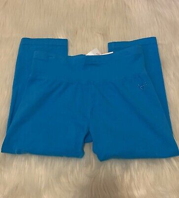 Justice Cropped Leggings Turquoise Girls Size 12 NWT