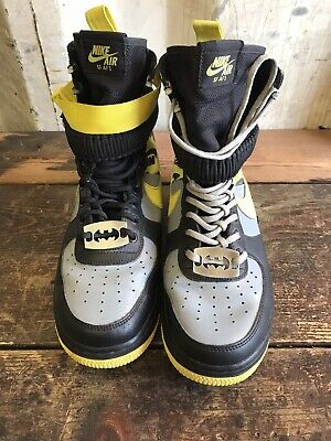 Mens Sz 9 Nike Air Force 1 High SF Goddess Of  Victory Field Yellow Winterized