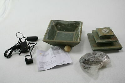 Sunnydaze Decor GSI-868 Ascending Slate Tiered Water Fountain w LED FOR PARTS