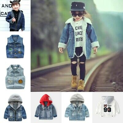Denim Jackets For Boys Trench Children Clothing Hooded Winter Warm Outerwear