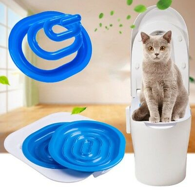 1*Cat Toilet Training Kit Pet Trainer Puppy Cat Litter Box Pet Supplies Useful b