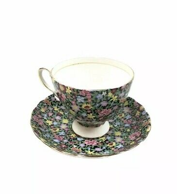 Royal Tuscan Floral Tea Cup and Saucer Set Fine Bone China England
