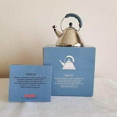 Authentic - Alessi - Michael Graves - *Miniature* - Bird Whistle  Kettle - New