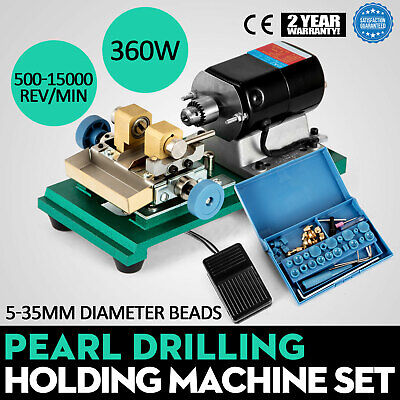 220V 360W Pearl Drilling Holing Machine Punch Tool Tools Kit W/ Foot SPECIAL BUY