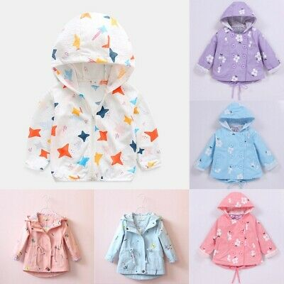 Embroidery Children Clothing Kid Girls Autumn Outerwear Floral Print Casual Coat