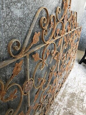 French Provincial Architectural Antique Wrought Iron Panel EntranceDriveway Gate