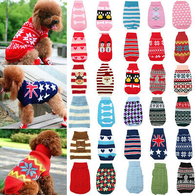 Dog Pet Puppy Cat Jumper Knit Sweater Clothes Knitwear Coat Warm Costume