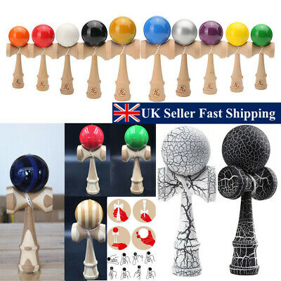 Crackle Full Size Japanese Wood Kendama Ball Traditional Skill Game Juggling