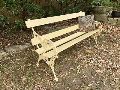 Beautiful Antique Style Cast Metal Garden Bench,Chair,Seat