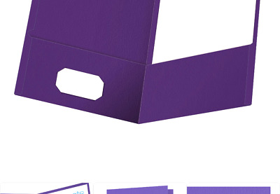 Oxford Twin-Pocket Folders, Textured Paper, Letter Size, Purple, Holds 100 Sh...