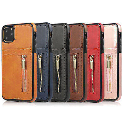 Zip Coin Purse Card Slot Leather Case For iPhone 11 Pro Max 8 Plus 7 6 XR XS Max