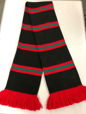 Glentoran FC Retro Bar Scarf - Black,Red & Green - Made in UK