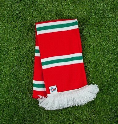 Wales International Colours Retro Bar Scarf - Red, White & Green - Made in UK